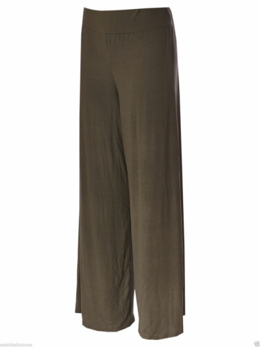 NEW LADIE/'S WOMEN/'S PLAIN PLAZUO OVERSIZED WIDE LEG FLARED CASUAL TROUSER PANTS
