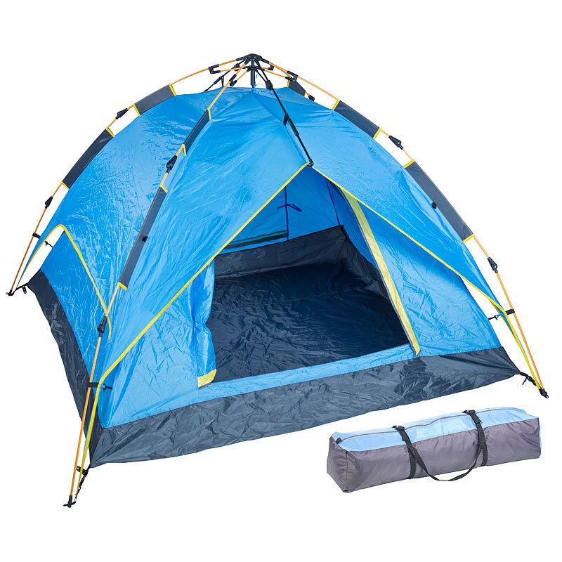 Zelte    Automatik-Kuppelzelt für 3 - 4 Personen, 3.000   5.000 mm Wassersäule  | Der Schatz des Kindes, unser Glück  e19841