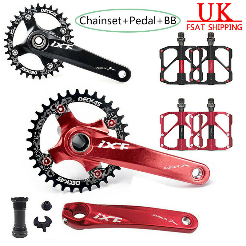 MTB Bike Chainset 104bcd Crank Arm Bicycle Pedal BB 32 34 36 38T Chainring CNC