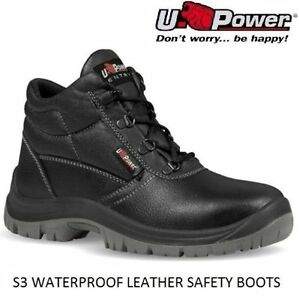 Mens Leather Lightweight Steel Toe Cap Midsole Work Safety Boots Shoes Trainers