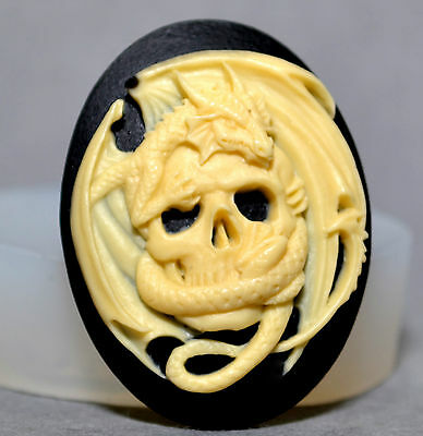 Skull & Dragon silicone mold food use polymer clay resin fimo game of thrones