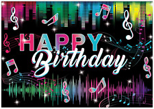 LB 10x8ft TIK Tok Backdrop for Photography Happy Birthday Background for Photoshoot Miscial Themed Photo Background Decorations for Birthday Party Banner Photo Booth
