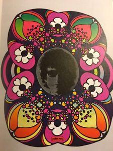 Vintage-Rare-Peter-Max-Psychedelique-Art-POP-BOB-DYLAN-Poster-Print