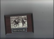 SEABISCUIT BEATS WAR ADMIRAL PLAQUE HORSE RACING TURF