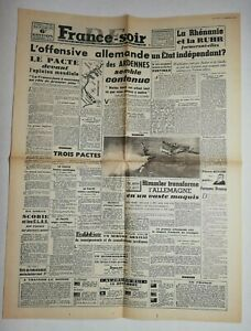 N703-La-Une-Du-Journal-France-soir-19-decembre-1944-l-039-offensive-allemande