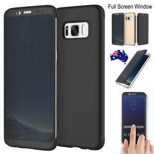 Details about Rock Smart Transparent View Window Flip Cover Case F Samsung  Galaxy S9 Note 8 S8