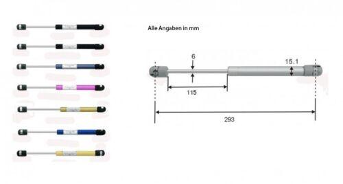 Gasdruckdämpfer Gasdruckfeder Gasfeder Heckklappendämpfer 293mm 150N blau 8191