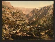 Gourdon Gorge Of The Wolf The Bridge Ii Grasse A4 Photo Print