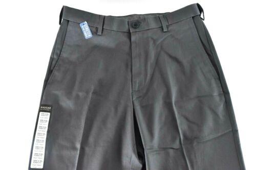 Haggar Mens Gray Pants New 32 34 36 38 40 42 44 Flat Front Classic No Iron Khaki