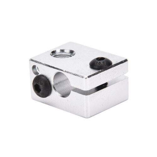 Aluminium Heat Block For 3D Printer V6 J-head Makerbot MK7//MK8 Extruder  xc