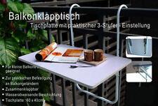 Balkonklapptisch weiss  Balkontisch weiß Klappbar Klapptisch Tisch 40x60 Cm Melamin 287699 ...