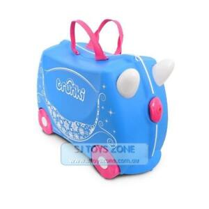 3fb433c571d3 Details about Trunki Ride - On Suitcase Princess Carriage Pearl Fun Kids  Luggage Toy