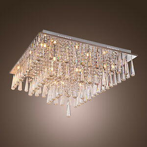 Chandelier-Ceiling-Pendant-Light-Modern-Elegant-Crystal-Lamp-Fixture-lighting-HQ