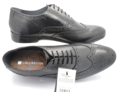 1260 Ex-M/&S Men/'s New Leather Black Lace Up Brogues Shoes Sizes UK New RRP £59