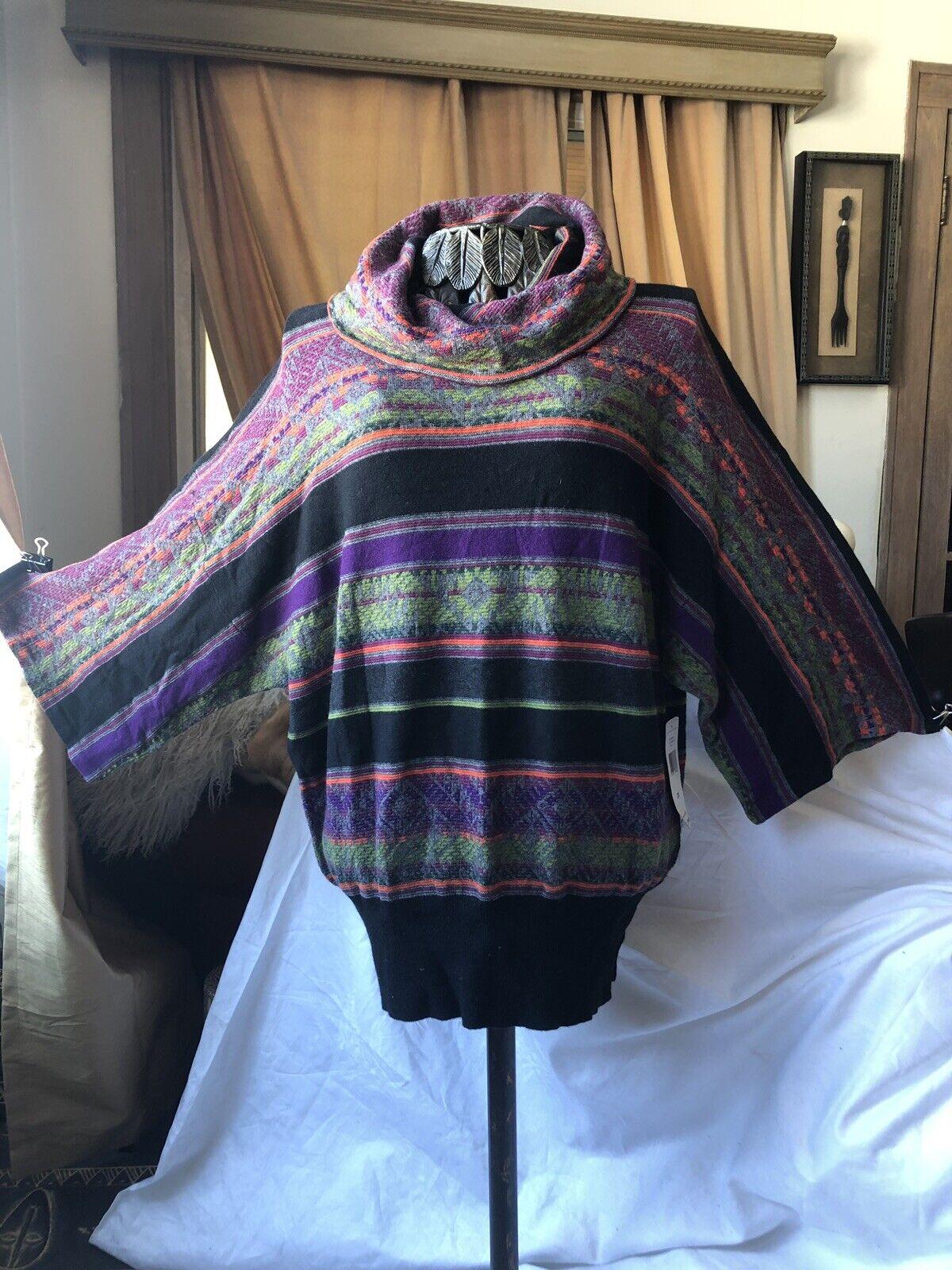 Ralph Lauren Active RLR 2X multicolord Stripe Sweater Kimono Sleeve  199 Tunic