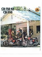 1974 Honda Cb-750k4/cb-550 4 Cylinder Motorcycle Sales Brochure(reprintl) $7.50