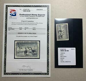 WTDstamps - #RW25 1958  - US Federal Duck Stamp - Mint OG NH **PSE 75**