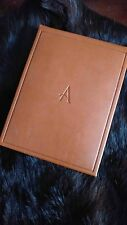 ASPREY LONDON RARE HANDCRAFTED LEATHER NOTEPAD.NEVER USED.COMES WITH MINK COLLAR