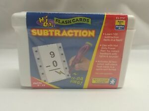 Subtraction Educational Insights Hot Dots Flashcards