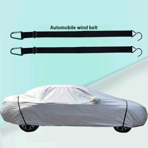 Car Cover Belt Car Clothing Fixed Elastic Belt Windproof Rope Straps Carabiner G