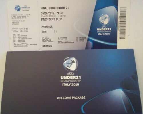 mint VIP TICKET UEFA Euro U21 Finale 2019 Spanien Spain Deutschland Germany