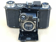 Zeiss Ikon Super Nettel Black Folding Camera w/ 50mm f/2.8 Tessar Lens - Rare