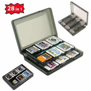 28-in-1-Game-Case-For-Nintendo-3DS-3DS-XL-SD-Card-Cartridge-Stylus-Holder-Clear