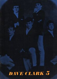 DAVE-CLARK-FIVE-1964-AMERICAN-TOUR-CONCERT-PROGRAM-BOOK-BOOKLET-EX-2-NMT