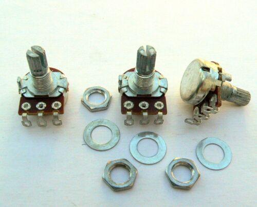 Jazz E-Bass 500k Klotz Potentiometer A500k B500k 3 Mini Topfset Stratocaster