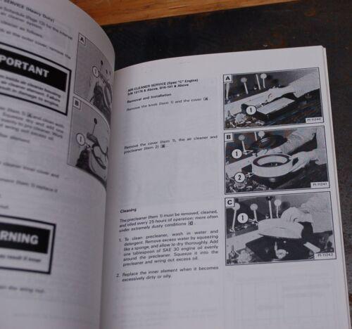 BURKEEN B16 Melroe T116 Trencher Operator Maintenance Owner Manual ...