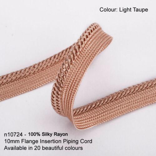 Neotrim 10mm Insertion Binding Piping Edging Cord Braid Trim,Silky Viscose Rayon
