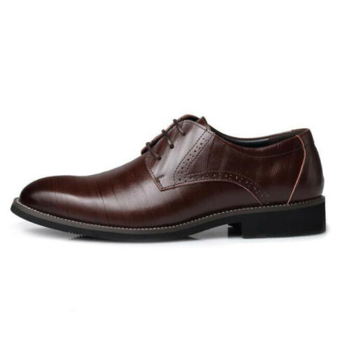 Men Formal Business Dress Oxfords Leather Shoes Pointed Toe Leisure Retro Casual