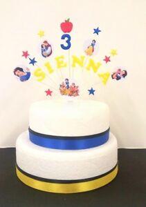 Stupendous Princess Snow White Birthday Cake Topper Decoration Personalised Birthday Cards Printable Nowaargucafe Filternl
