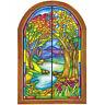 Tatouage Stained Glass Window Dry rub Transfer