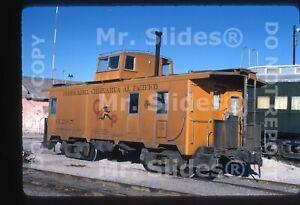 Original-Slide-Mexico-CH-P-Chihuahua-Pacifico-Caboose-665-Chihuahua-CHIH-1975
