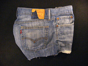 Low Daisy Red Zipper Rise Cut 32 Jean W Off 514 Duke Tab fly Levis Cutoff Shorts 6anq7vv4