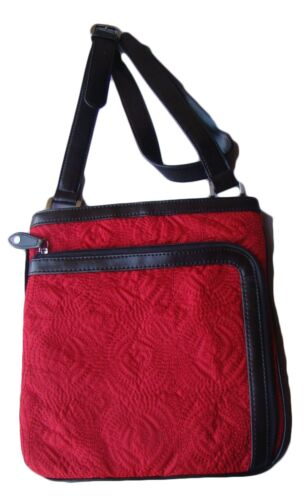 Nwt Coldwater Quilted Crossbody Red Organizer Portemonnee Rose Creek 5AjLR4