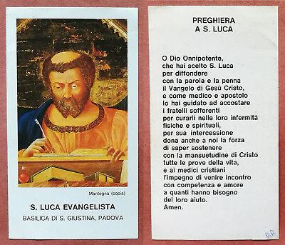 Santino Holy Card: S. San Luca Evangelista - Padova - Mantegna | eBay