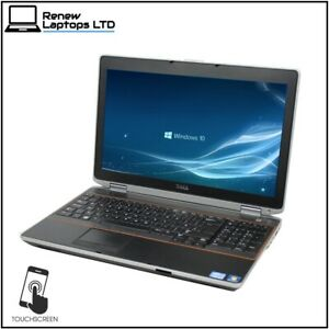 "Dell E6520 15.6"" Touchscreen Laptop, i5-2520 2.5Ghz, 16Gb RAM, 480Gb SSD, Win10"