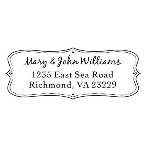 Designer Customized IDEAL 4912 Return Address withhis/&her name Self inking Stamp