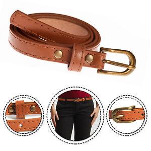 Donna Ragazza Elegante Marrone Cintura in Vita Moda Casual Abito Jeans Cintura Pantaloncini