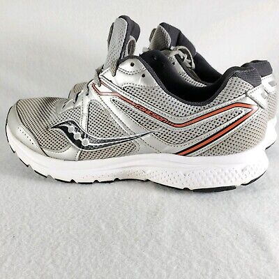 Size 5.0 Saucony Womens Cohesion 11 Low Top Lace Up Running Sneaker Grey