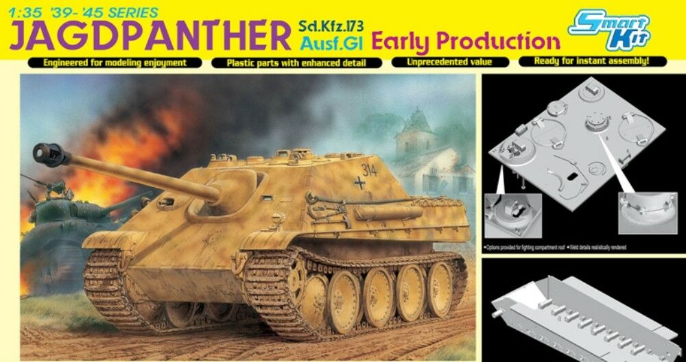 DRAGON 6458 Sd.Kfz.173 Jagdpanther Ausf.G1 Early Production