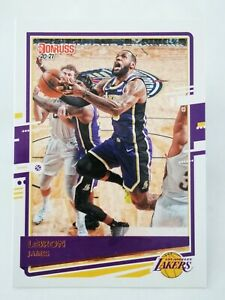 Panini Donruss 2020-21 N13 NBA trading card #12 Los Angeles Lakers Lebron James