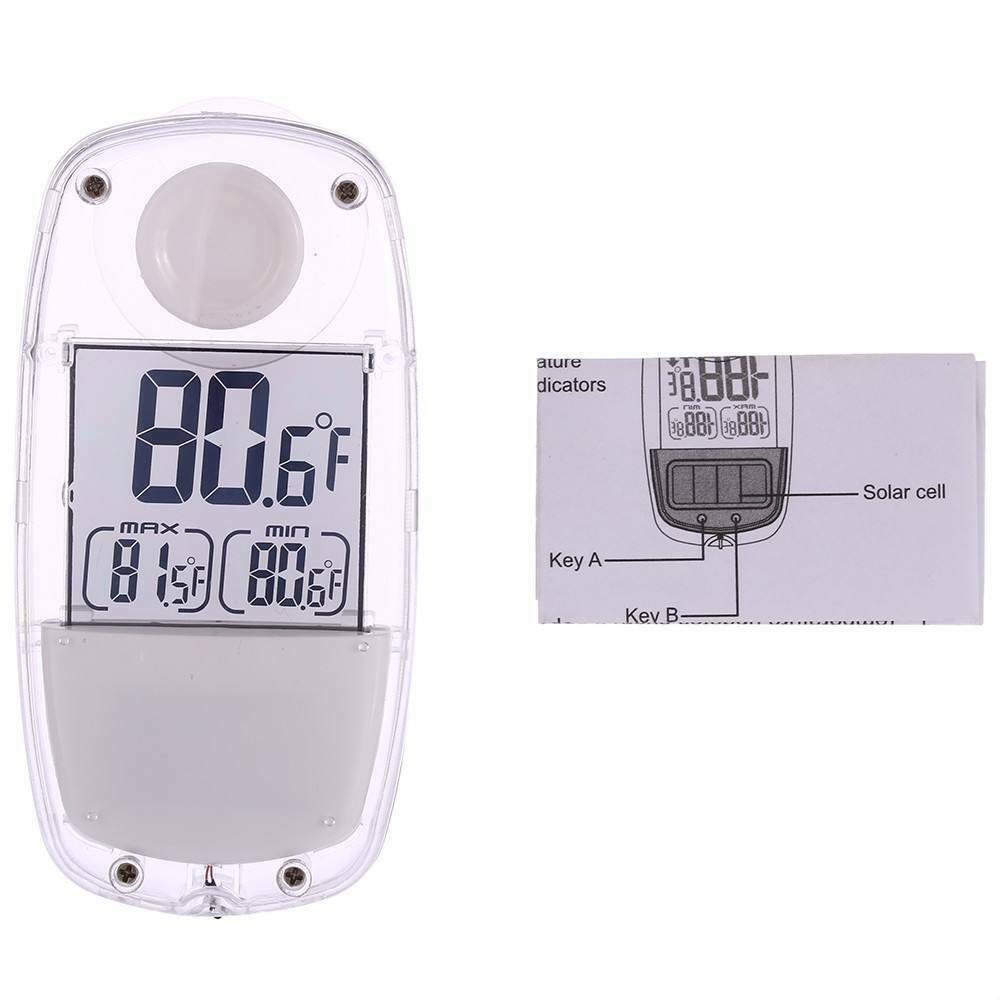 LCD Display Digital Window Thermometer, Outdoor Temperature Monitor with Suction