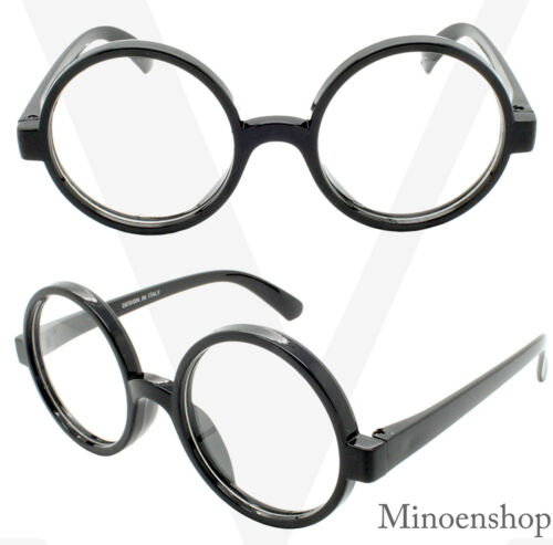 Fashion Retro Large Round Geek Clear Lens hip hop Glasses 46mm Oversized Hippie