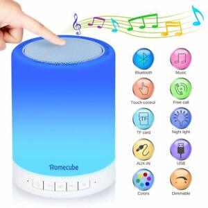 HOMECUBE-Wireless-Bluetooth-Speaker-Lamp-Touch-Control-Bedside-7-LED-Night-Light