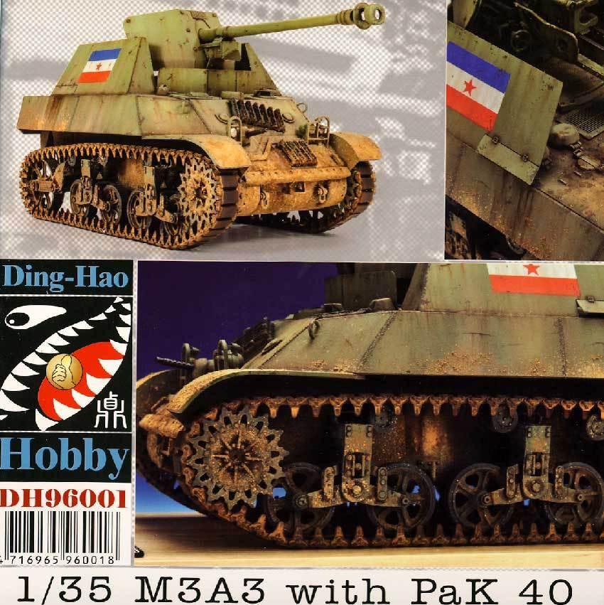 Accessoires M3A3 with PaK 40 Yugoslav Yugoslavia 1 3 5 Model Kit NIP Tip