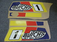 Kawasaki Jet Ski 550 Team Butch Hood Graphics Kit 550sx