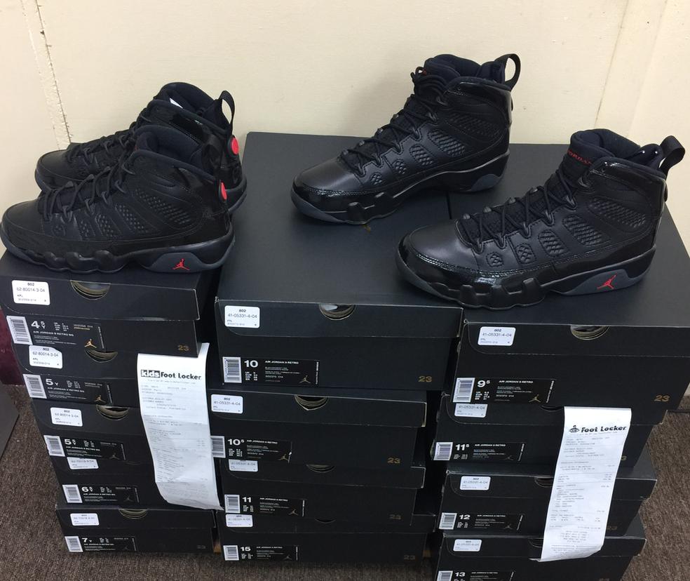 Nike Nike Nike air jordan retro - 9 ix gezüchtet 302370-014 schwarz - rot - og 2018 verbindlich szs: 4y  15 d2f7cf